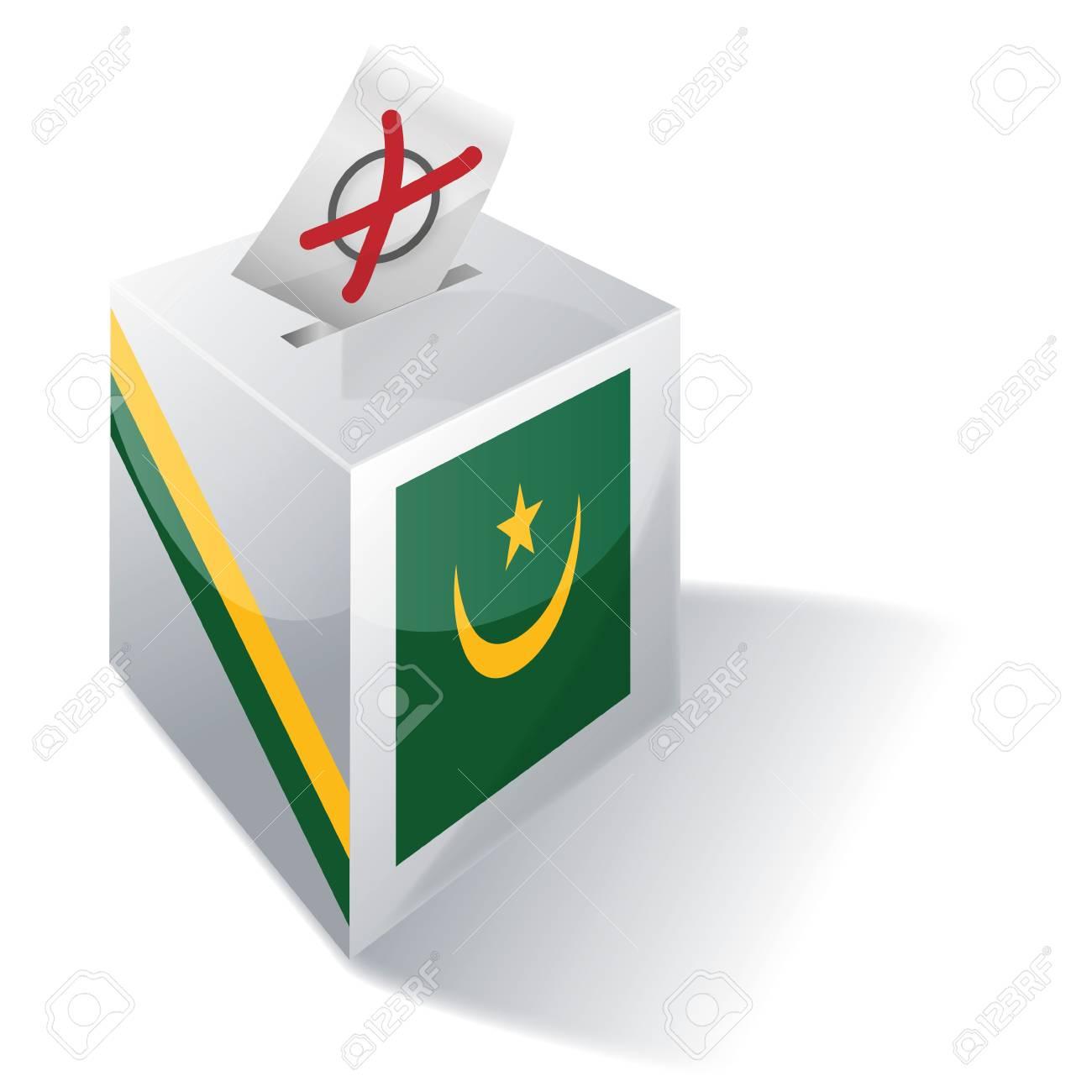 Ballot box Mauritania Stock Vector - 15993171