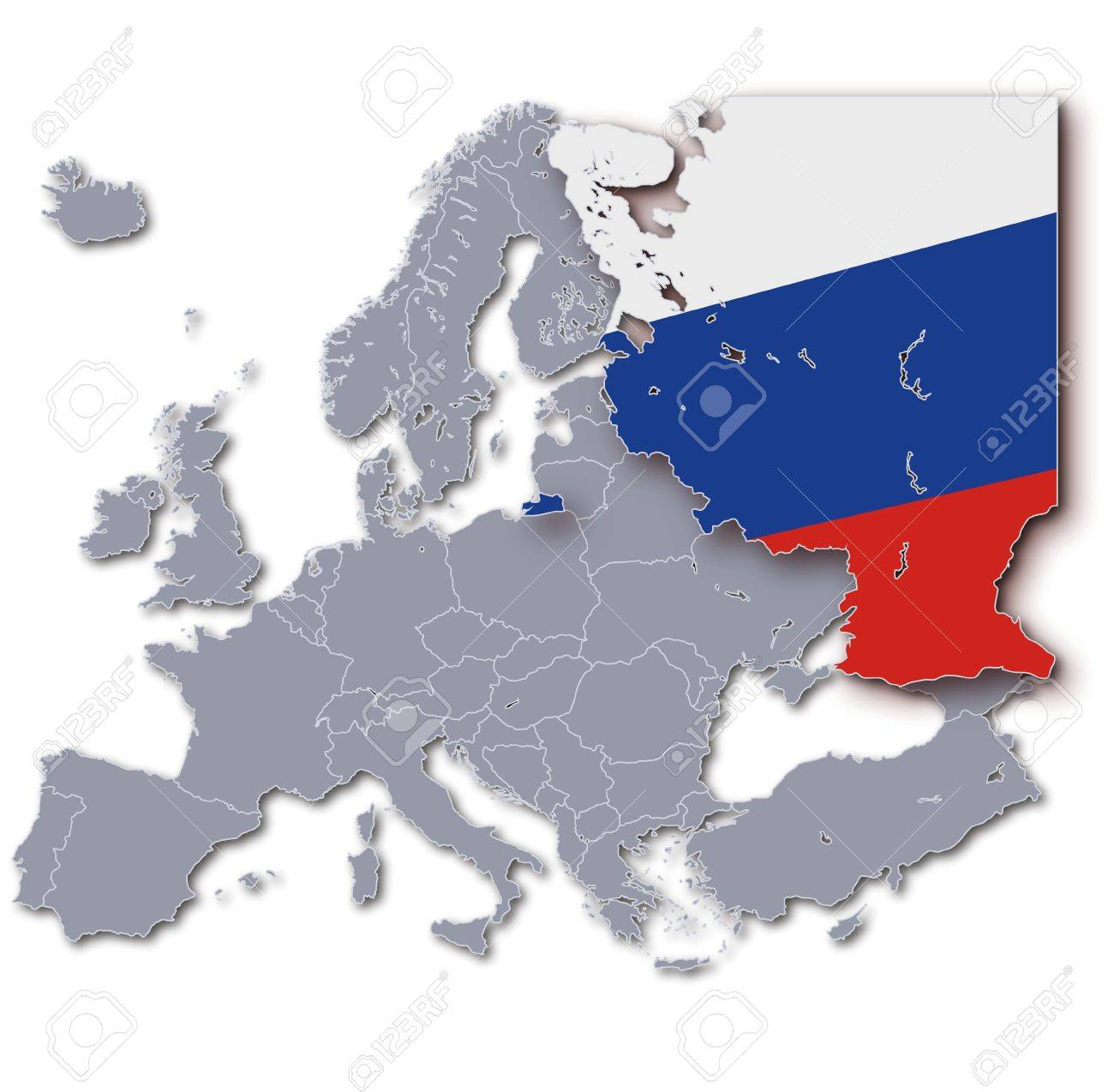 europe map russia stock photo 15993224