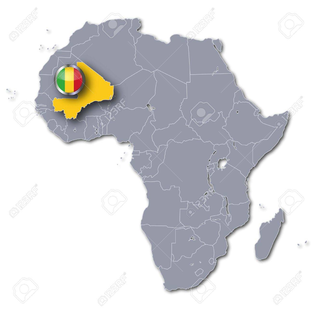 Africa Map Mali Stock Photo Picture And Royalty Free Image Image