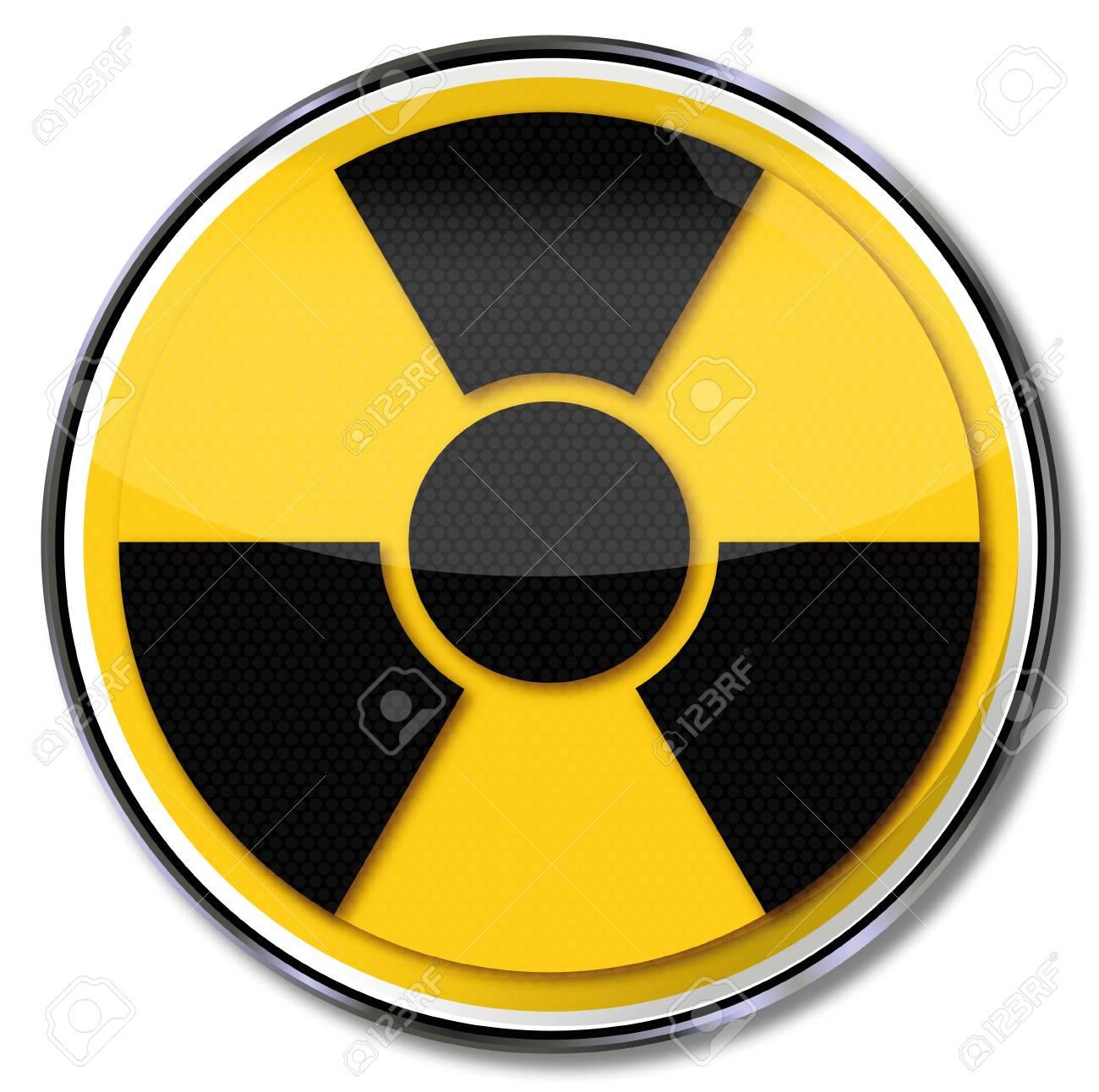 Sign atom and radiation Stock Photo - 15993229