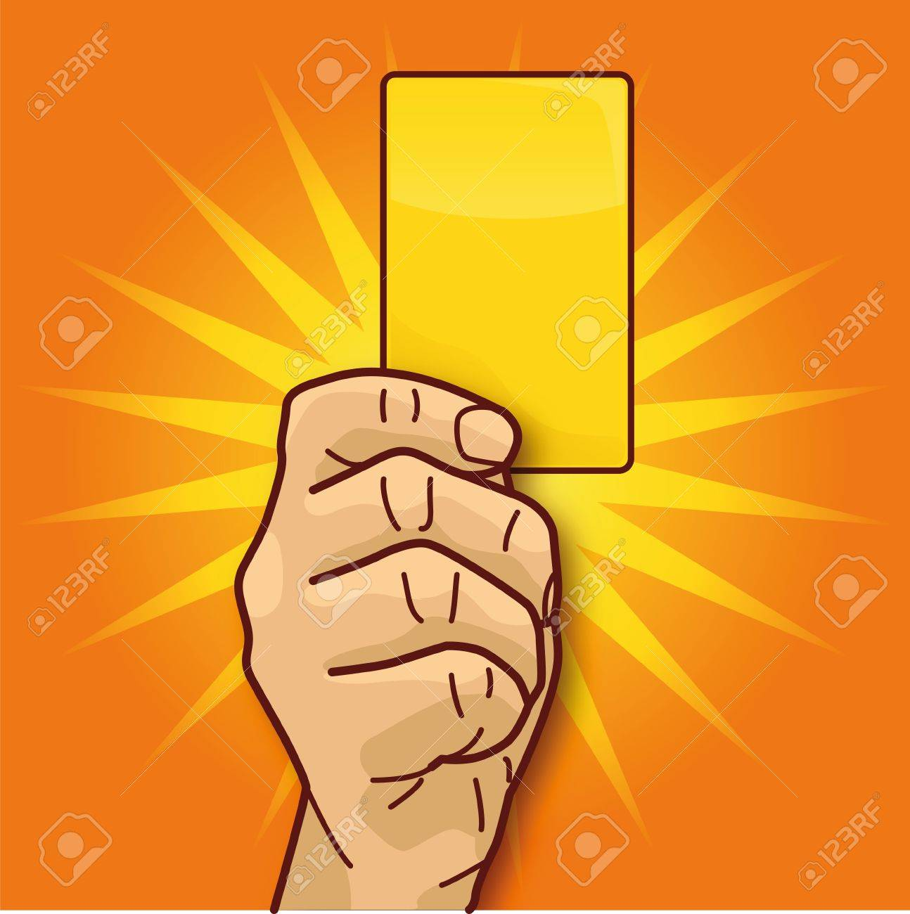 Punishment with the yellow card Stock Vector - 16219462