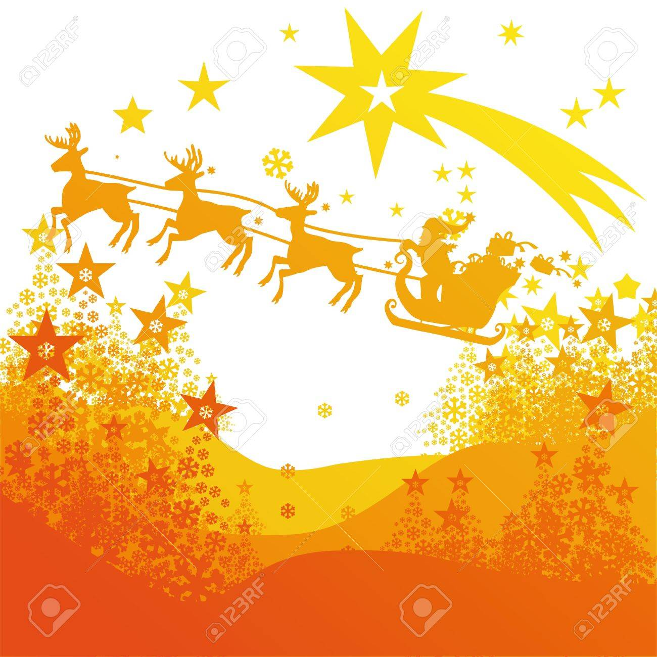 Christmas comet and Santa Claus Stock Vector - 16331277