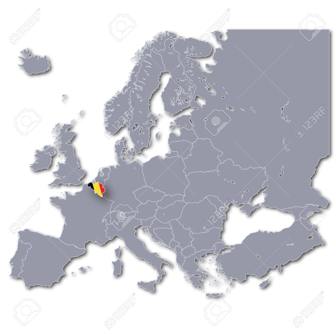 europe map belgium stock photo 16433835
