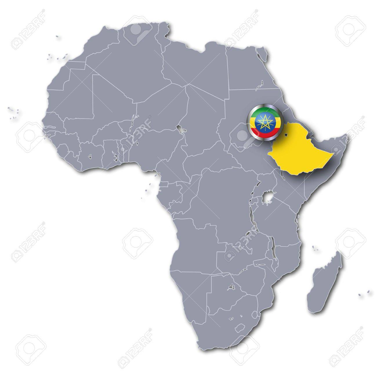 Africa Map Ethiopia Stock Photo Picture And Royalty Free Image