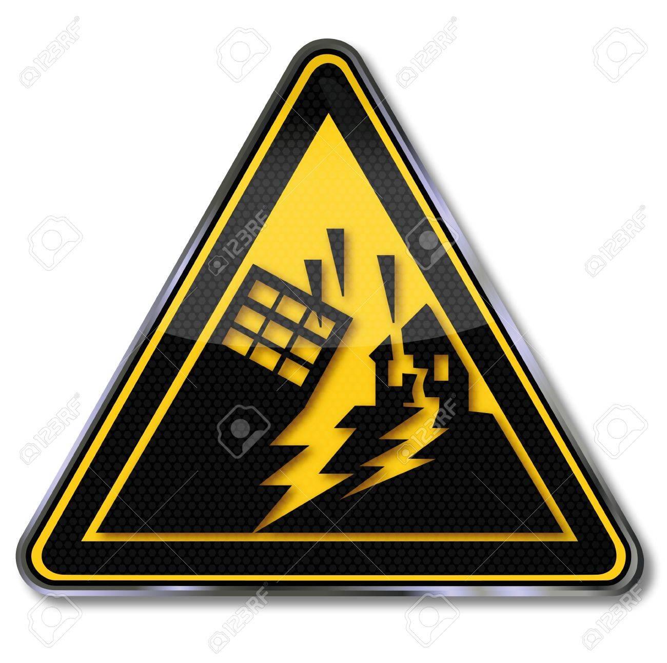 Sign earthquakes Stock Vector - 16547988