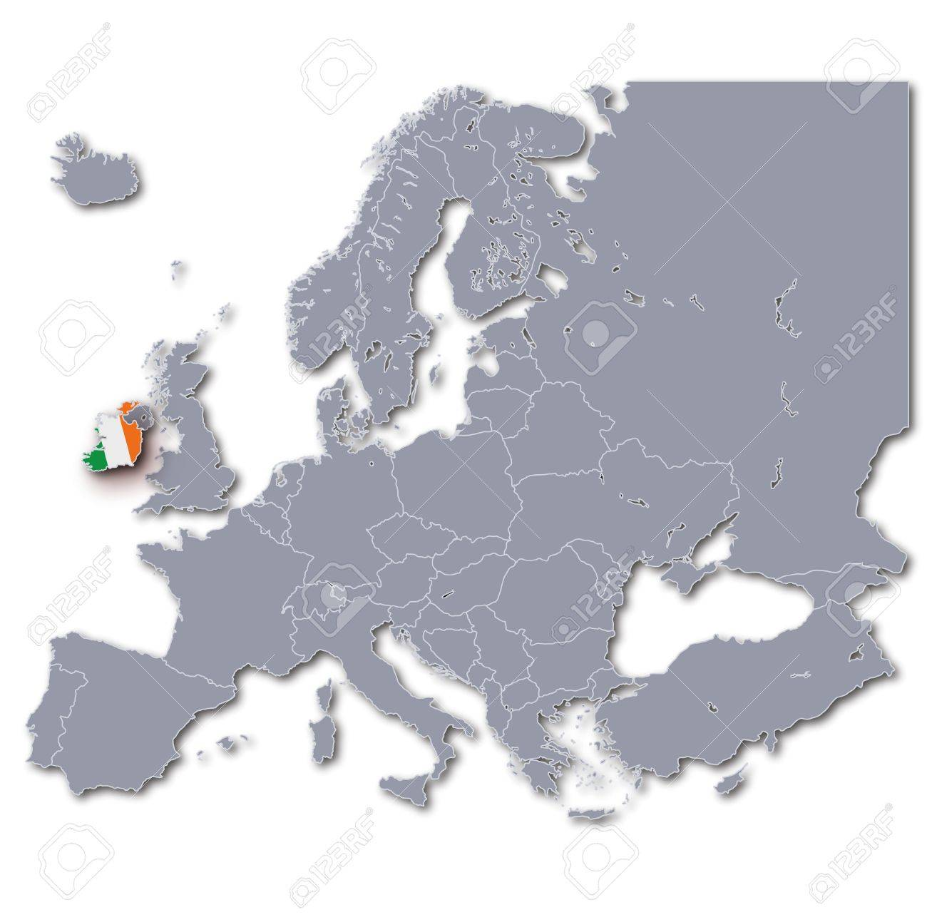 Europe Map Ireland Stock Photo Picture And Royalty Free Image