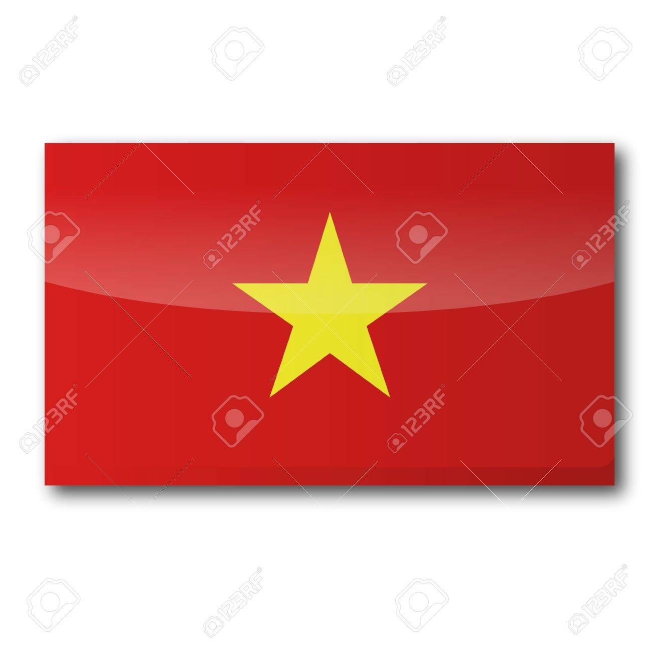 Flag Vietnam Stock Vector - 16807076