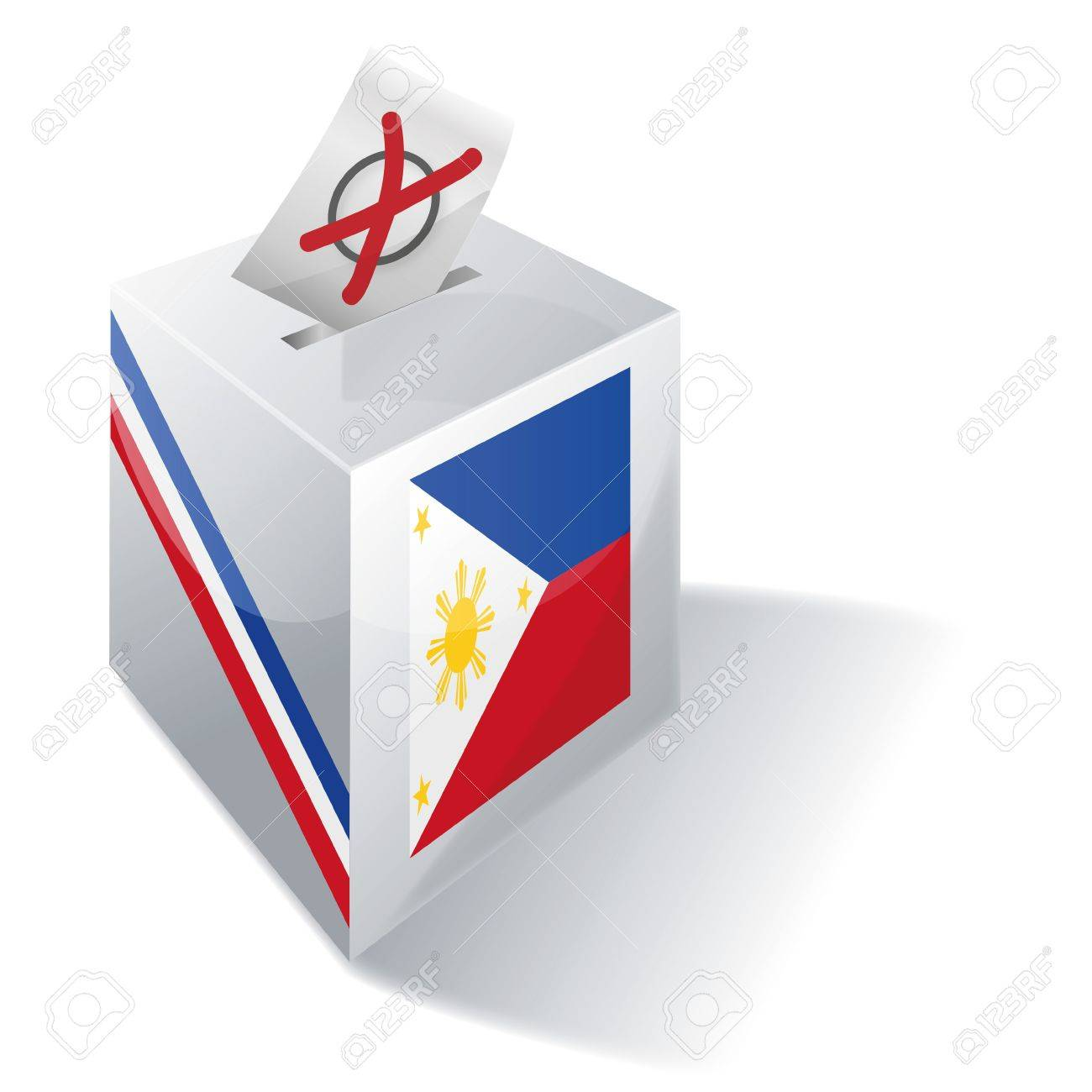 Ballot box Philippines Stock Vector - 16807135