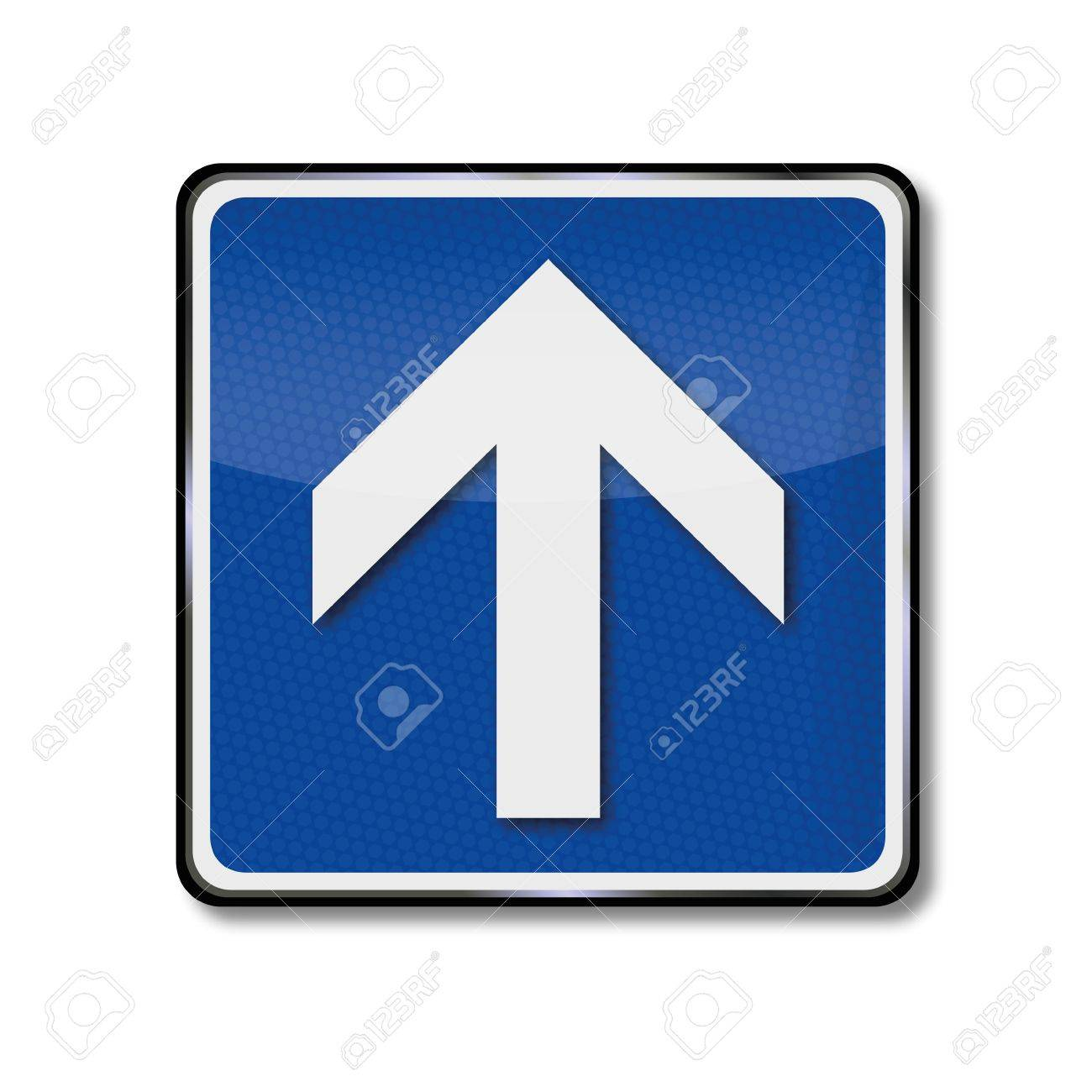 Traffic Sign Arrow, direction and upwards Stock Vector - 17313457