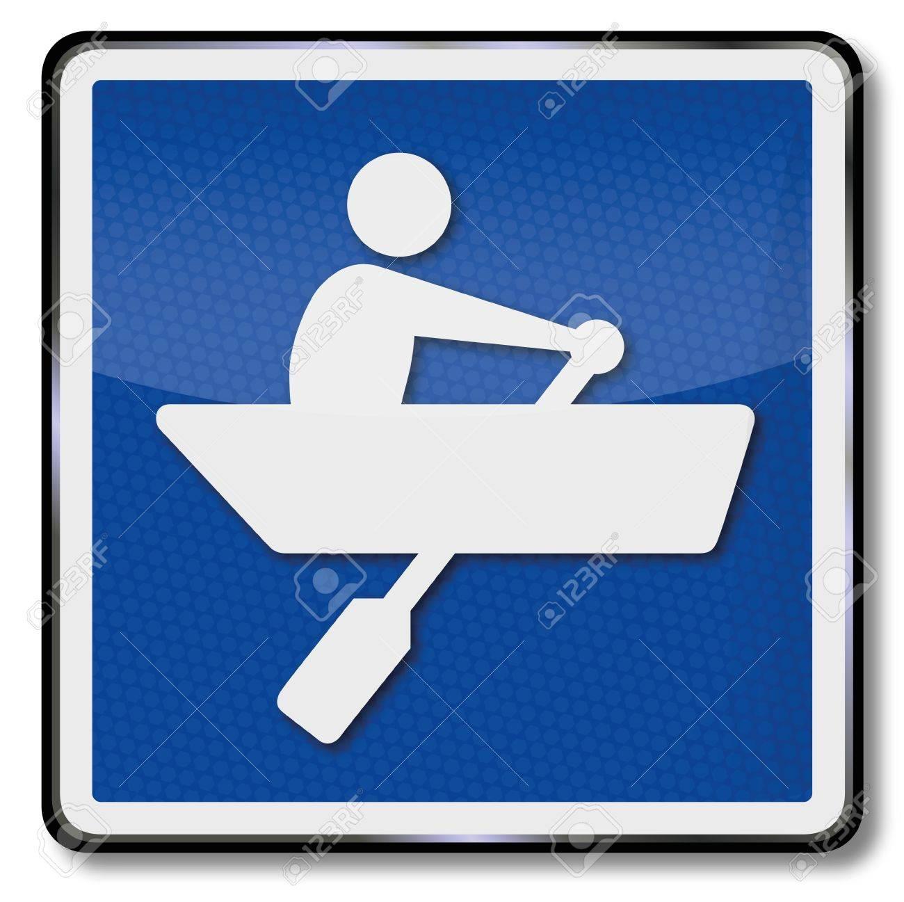 Ship sign rowboat Stock Vector - 17459744