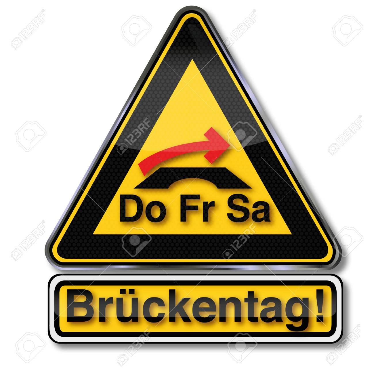 Sign bridge day Stock Vector - 17620533