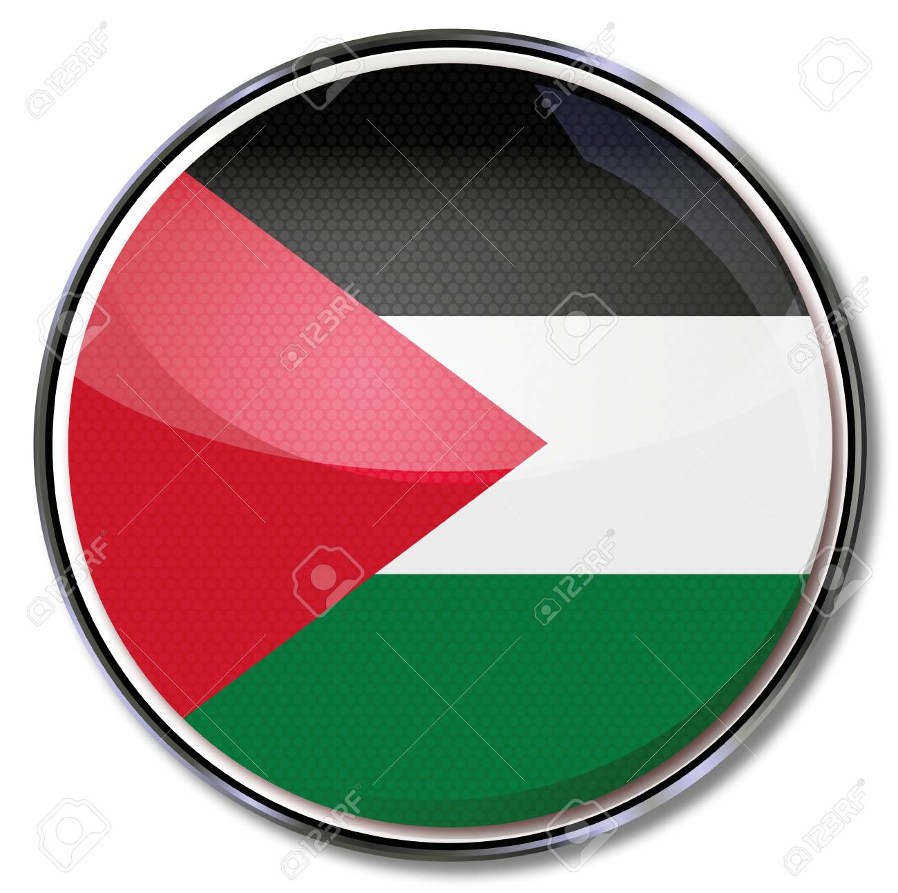 Button Palestine Stock Vector - 17773480