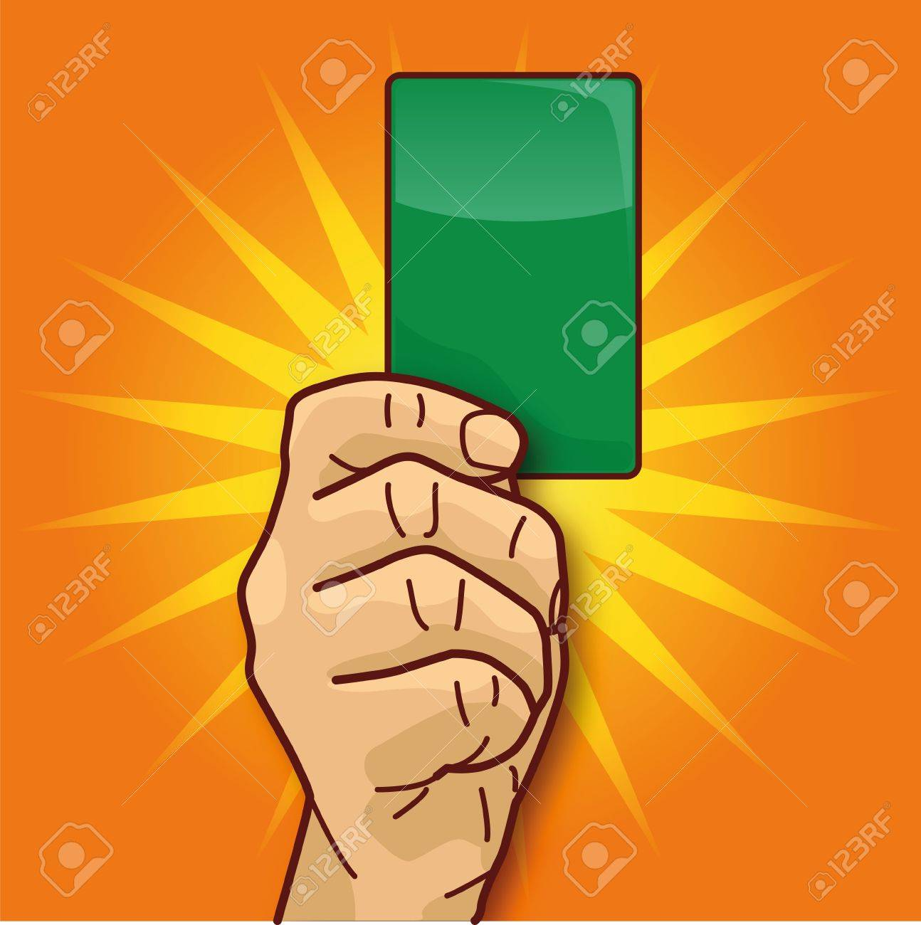 Hand green card and ecology Stock Vector - 17773457