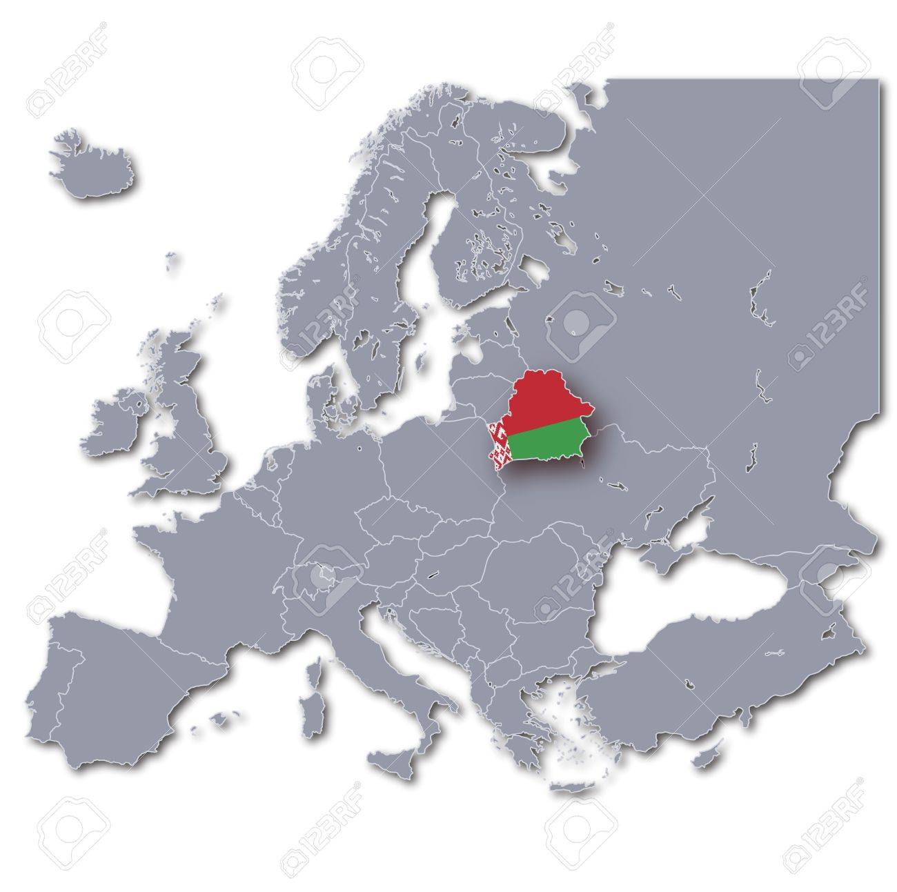 Carte Europe Bielorussie.Carte De L Europe Bielorussie