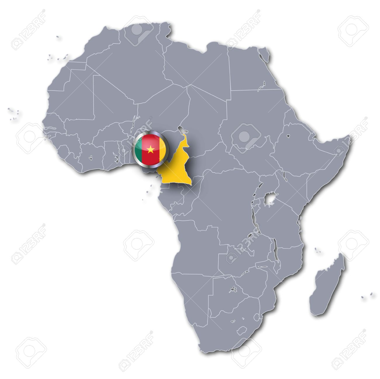 Map Of Africa Cameroon.Africa Map Cameroon