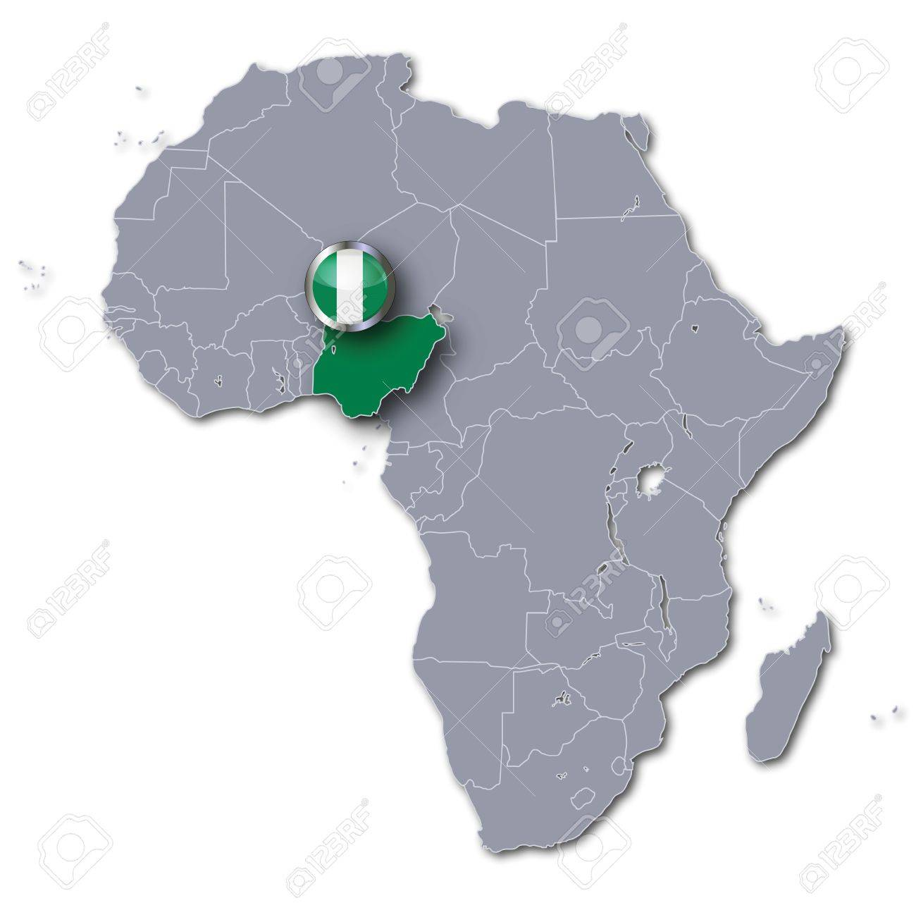 Africa Map Nigeria.Africa Map Nigeria Stock Photo Picture And Royalty Free Image