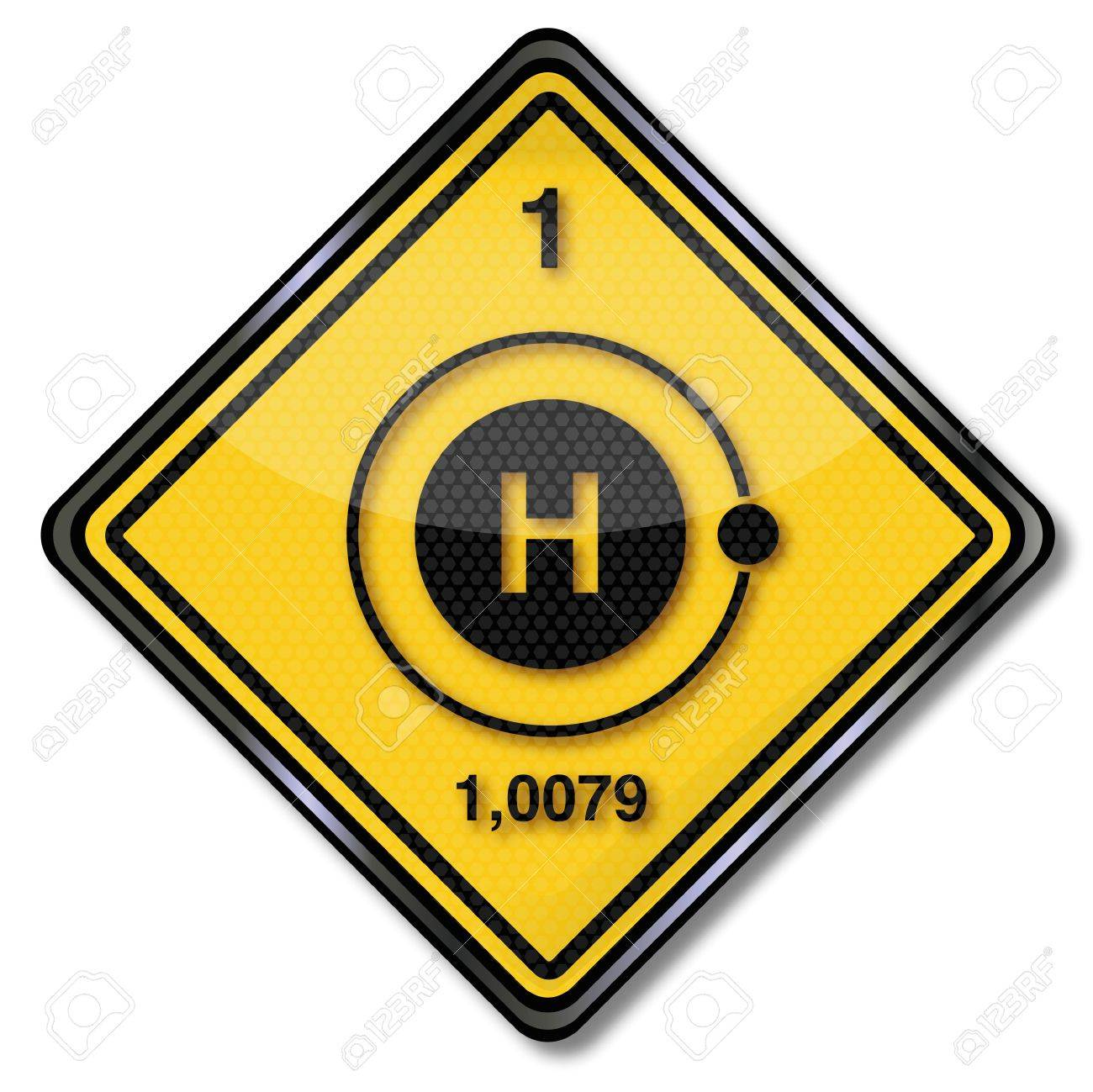Sign chemistry and hydrogen Stock Vector - 17933438