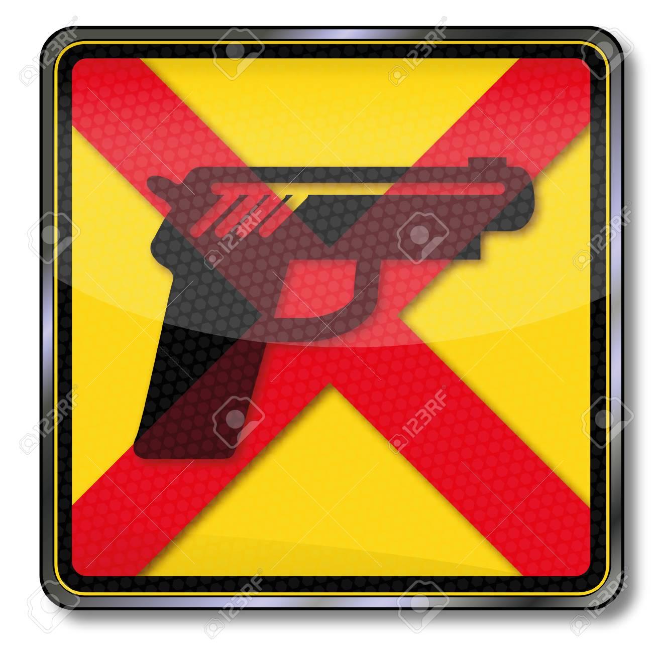 Sign no guns Stock Vector - 18382827