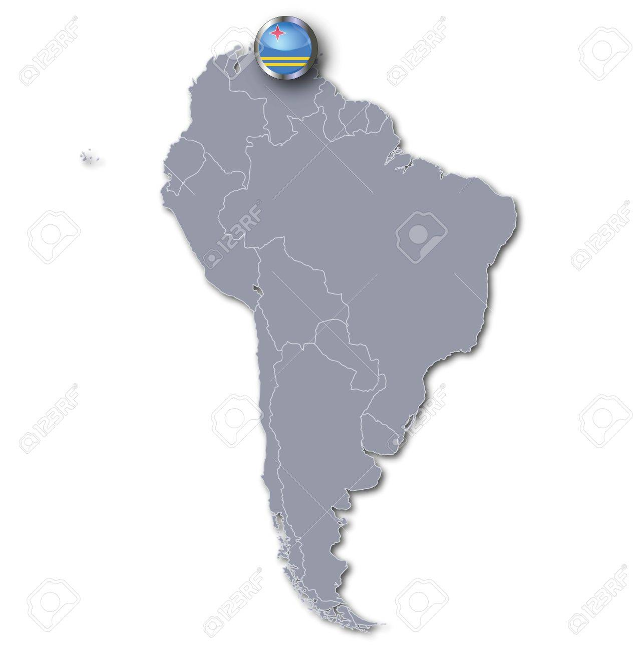 South America Map Aruba Royalty Free Cliparts Vectors And Stock