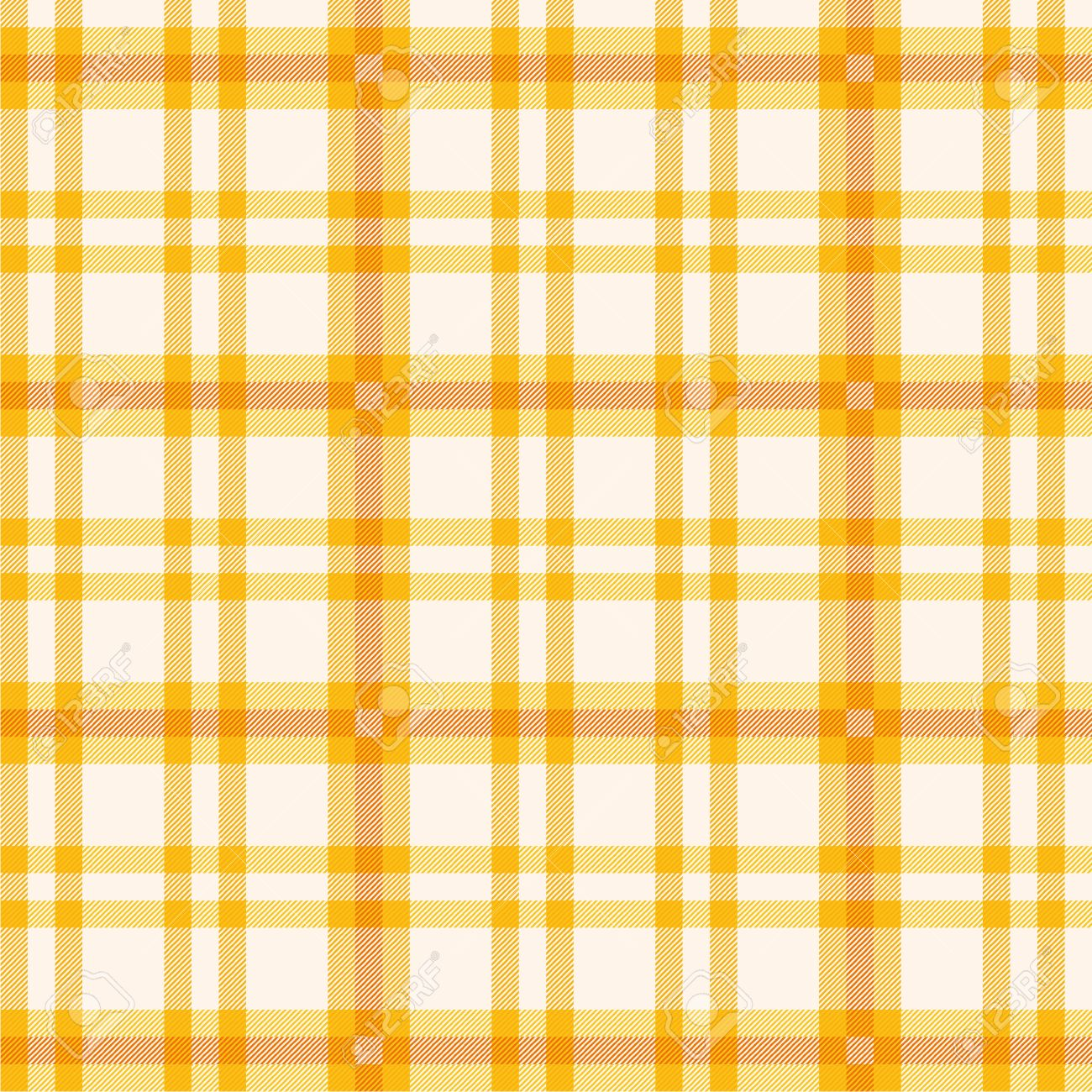 Tablecloth with orange plaid Stock Vector - 19314607