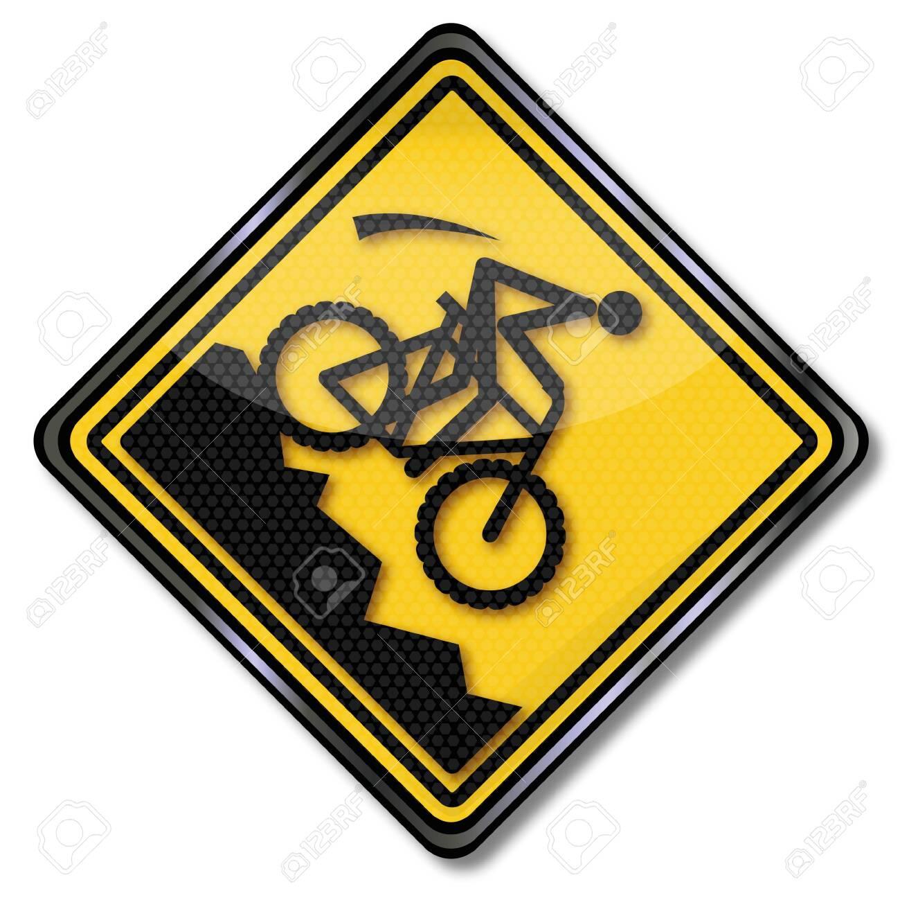 Sign hillside and mountain biking Stock Vector - 20309628