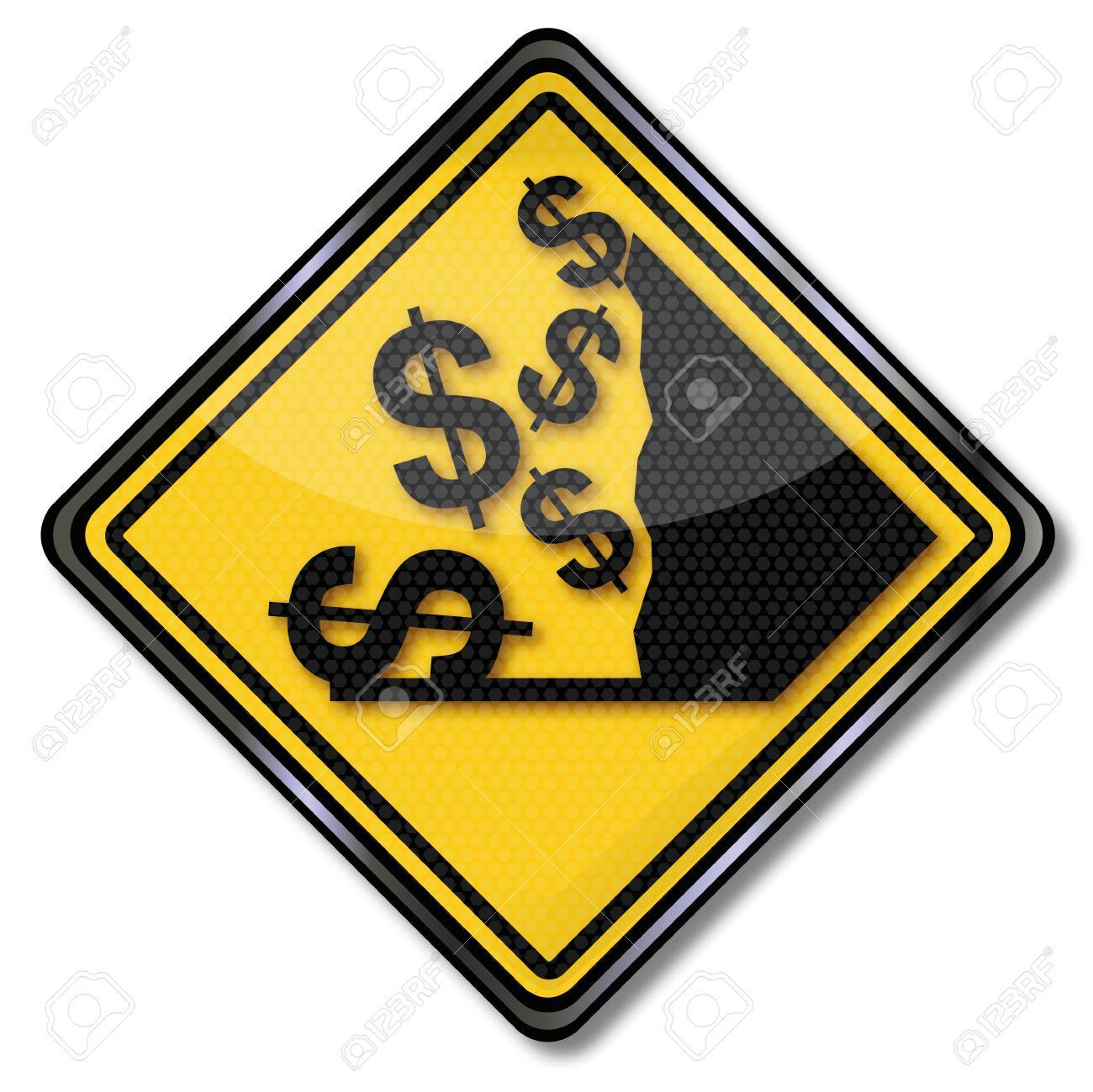 Sign dollar and crash Stock Vector - 22644838
