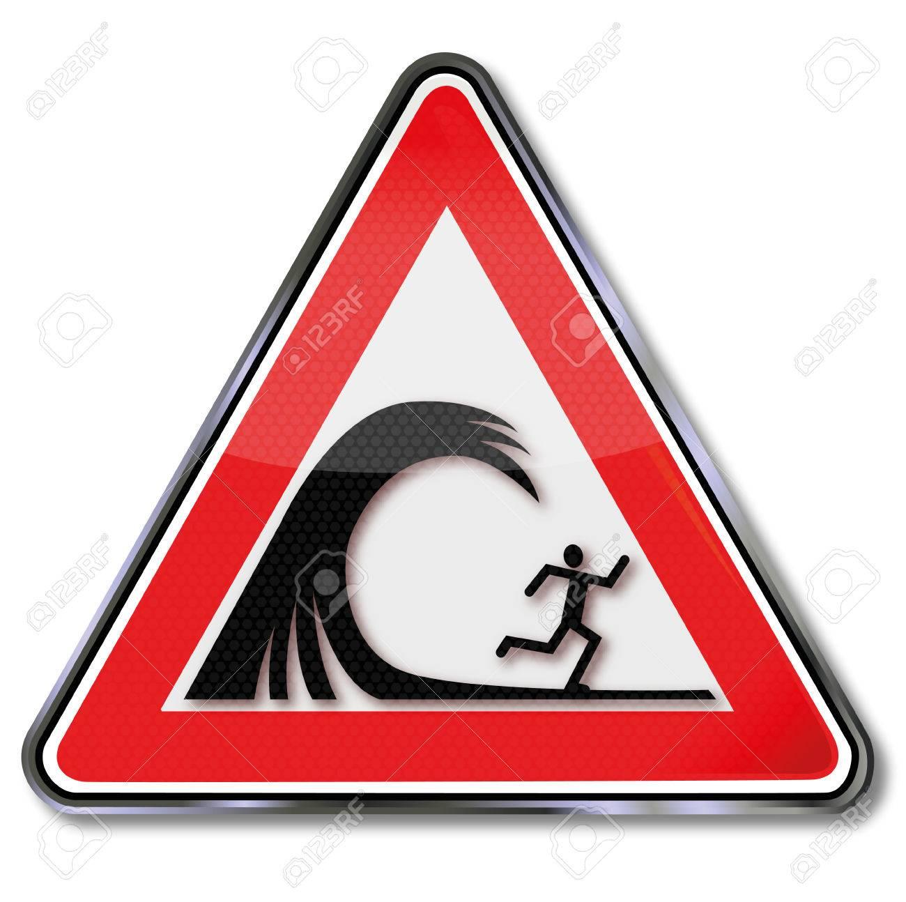 Warning sign riptide Stock Vector - 22806432