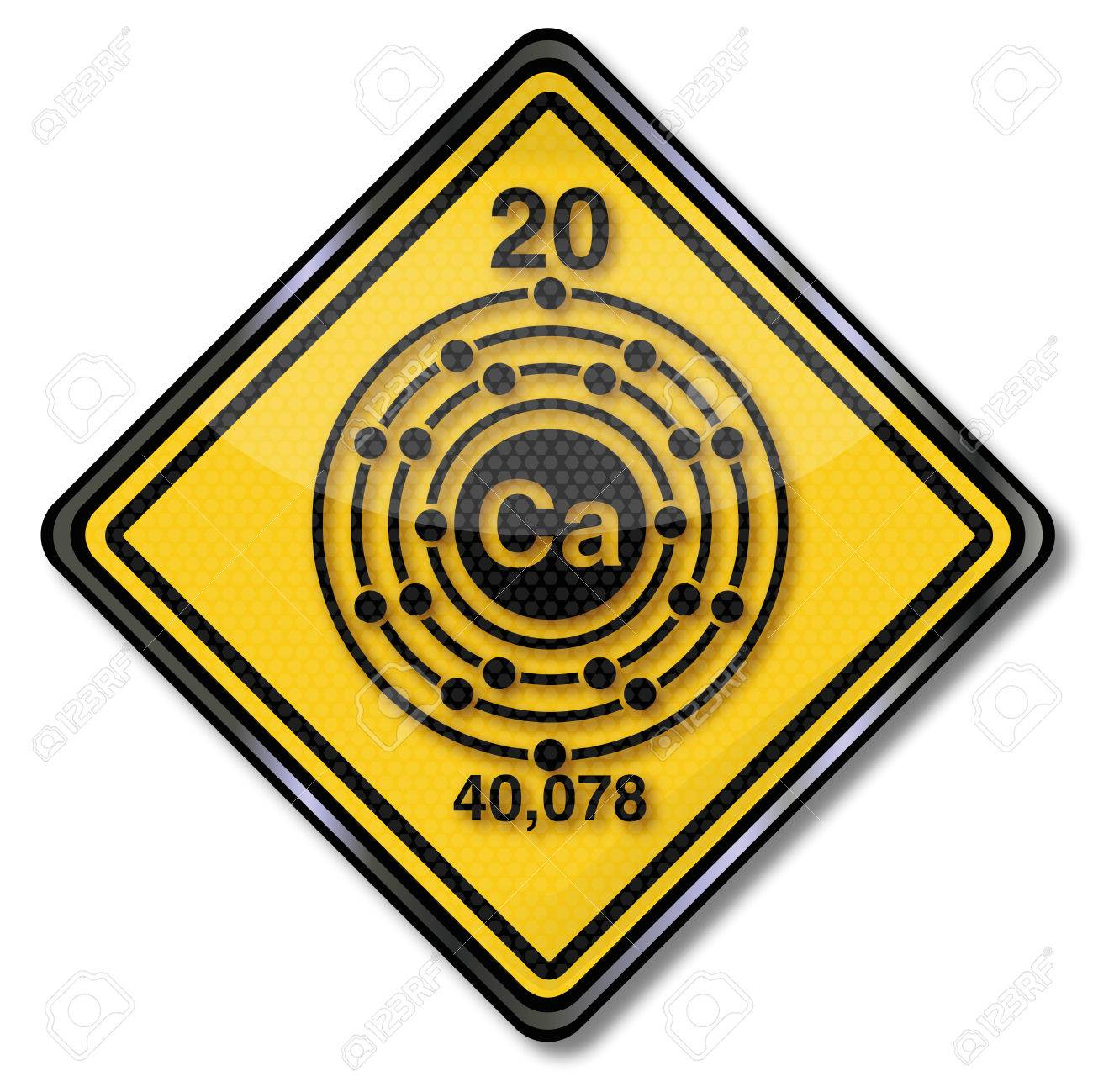 Sign chemistry character calcium Stock Vector - 24476958