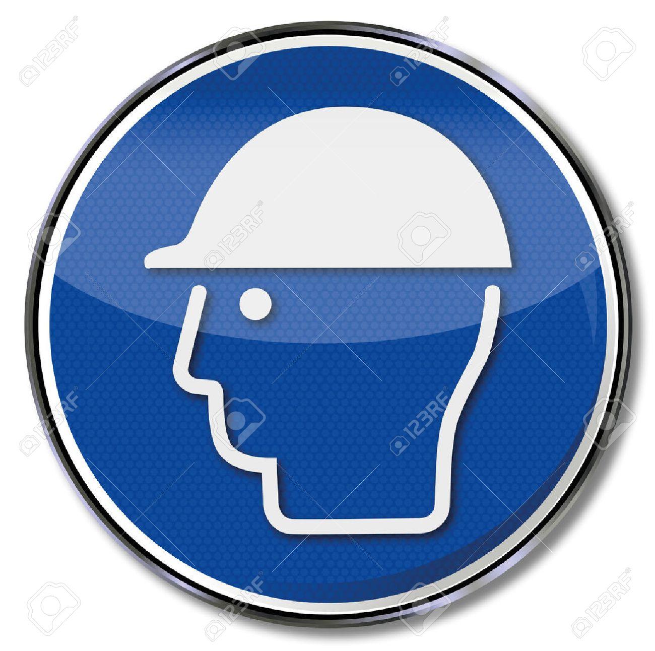 Mandatory sign use head protection - 25126620