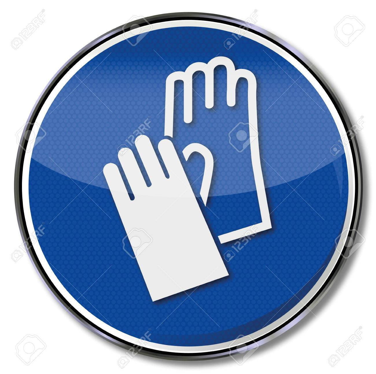 Mandatory sign using hand protection and gloves - 26920021
