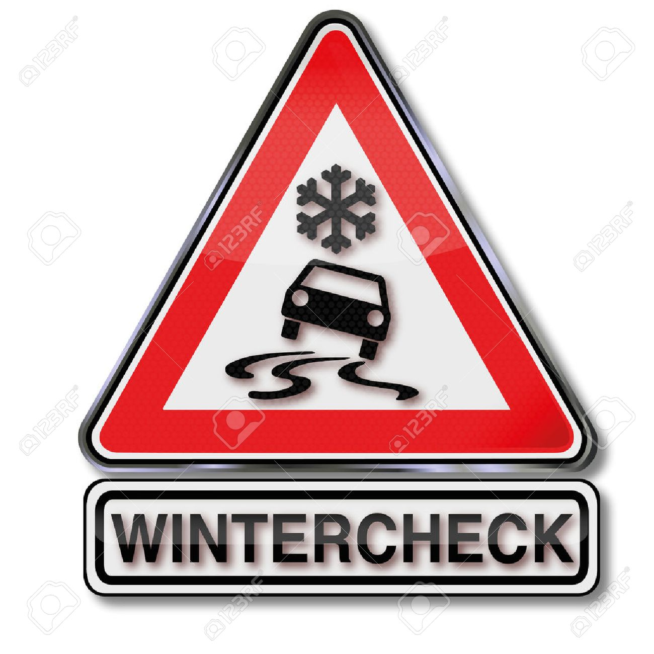 Sign winter check for your car - 32550681
