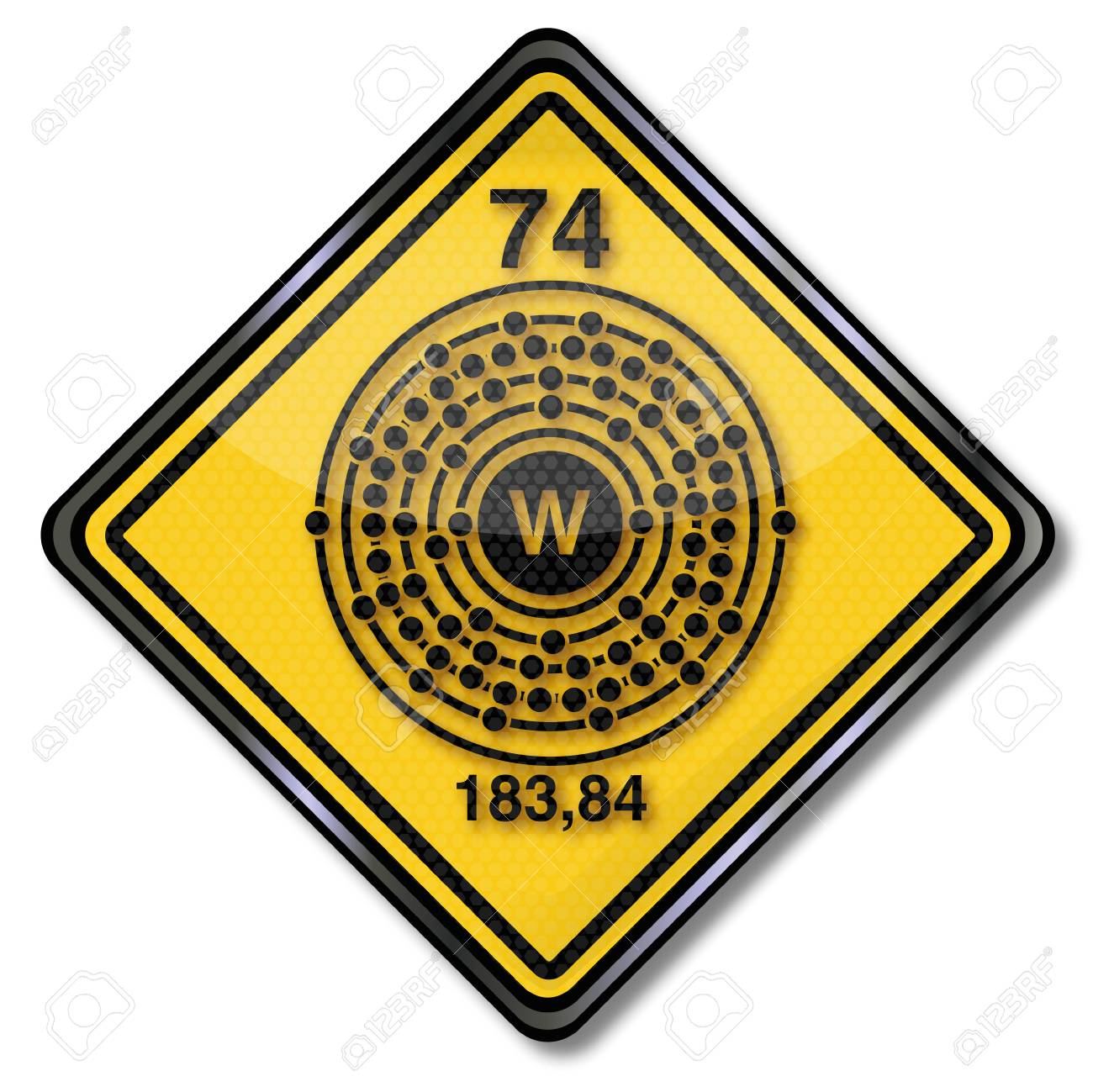 Chemistry And Chem Shield Sign Wolfram Royalty Free Cliparts
