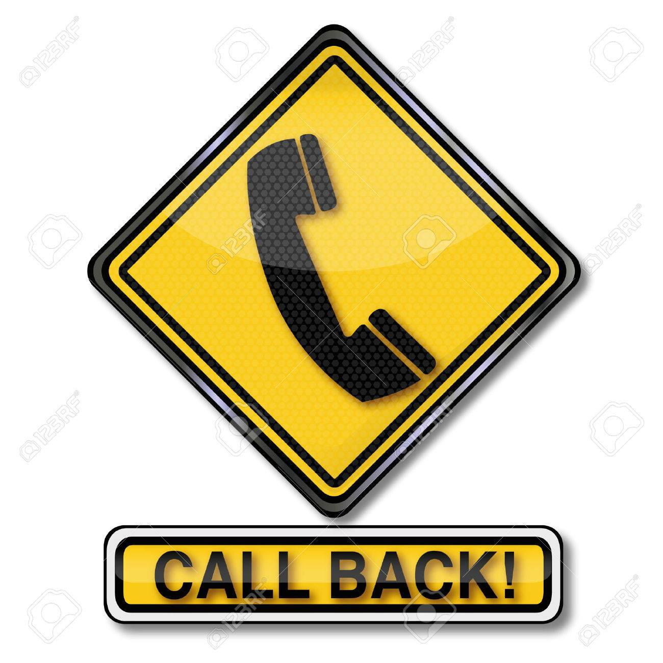 Sign with a telephone and call back Stock Vector - 55140246