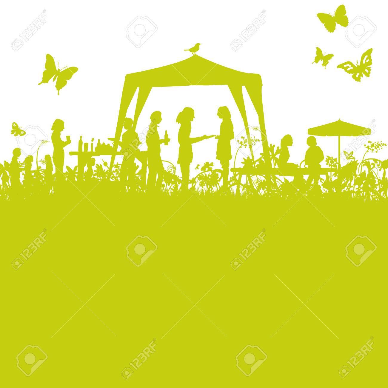 Garden party in the open garden - 56947099