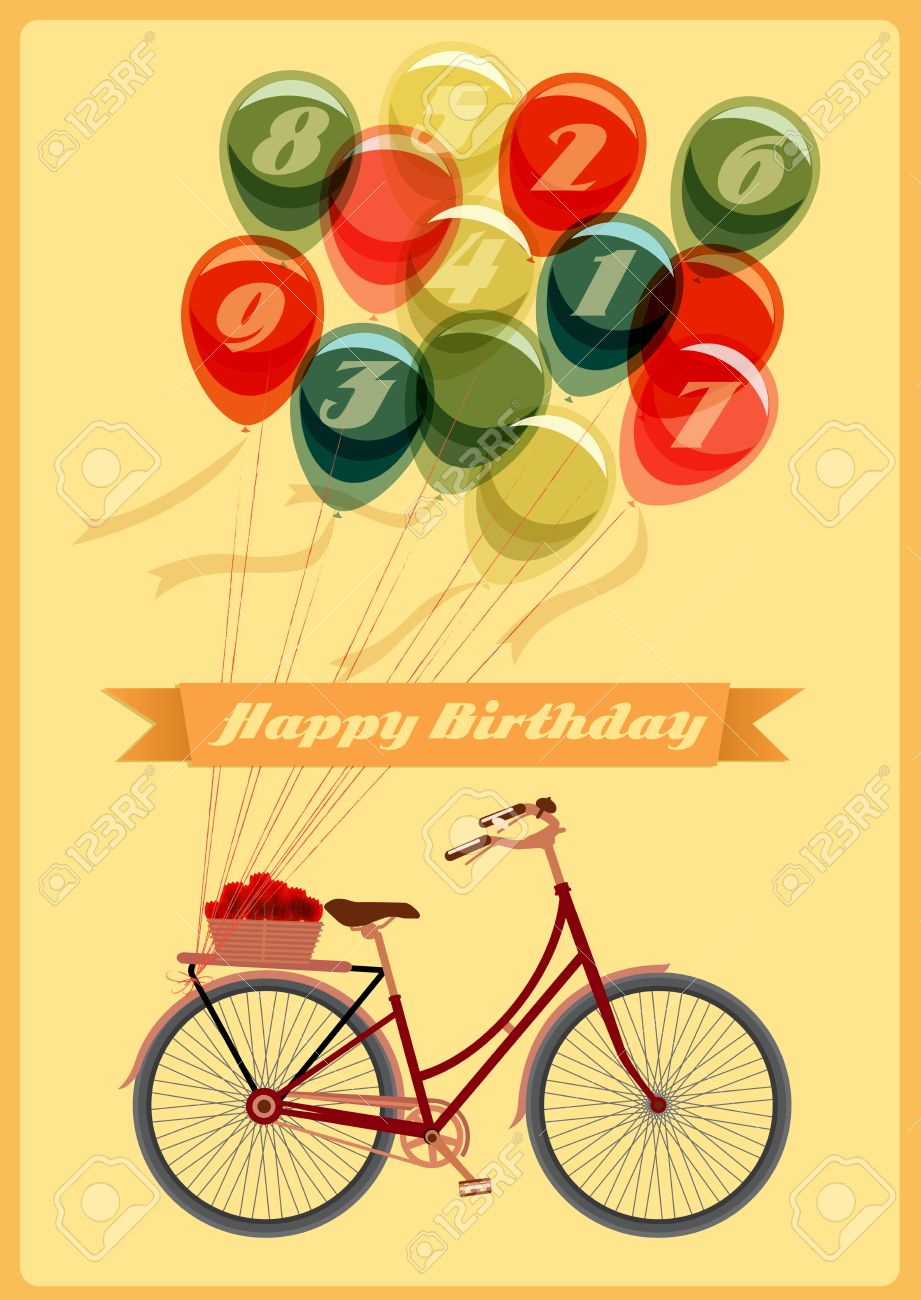 Retro Birthday Cards gangcraftnet – Vector Birthday Cards