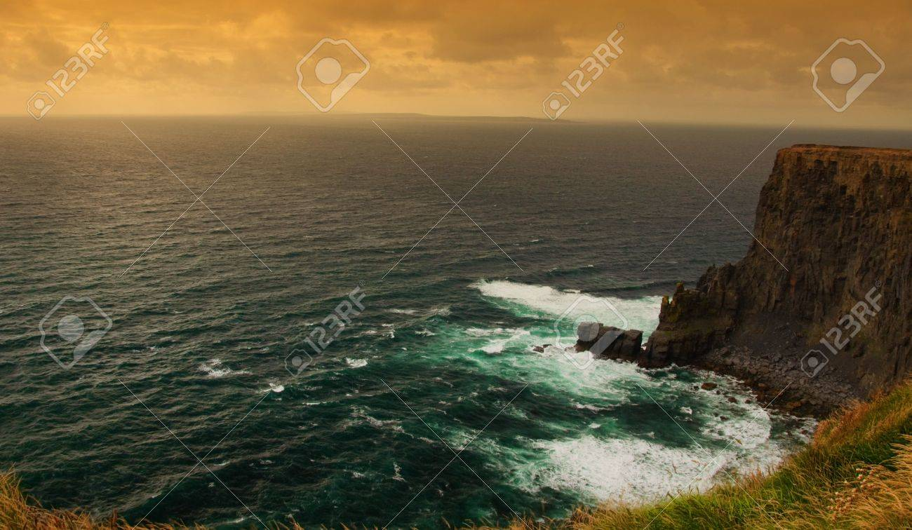 photo sunset by the cliffs of moher, ireland Stock Photo - 5999446