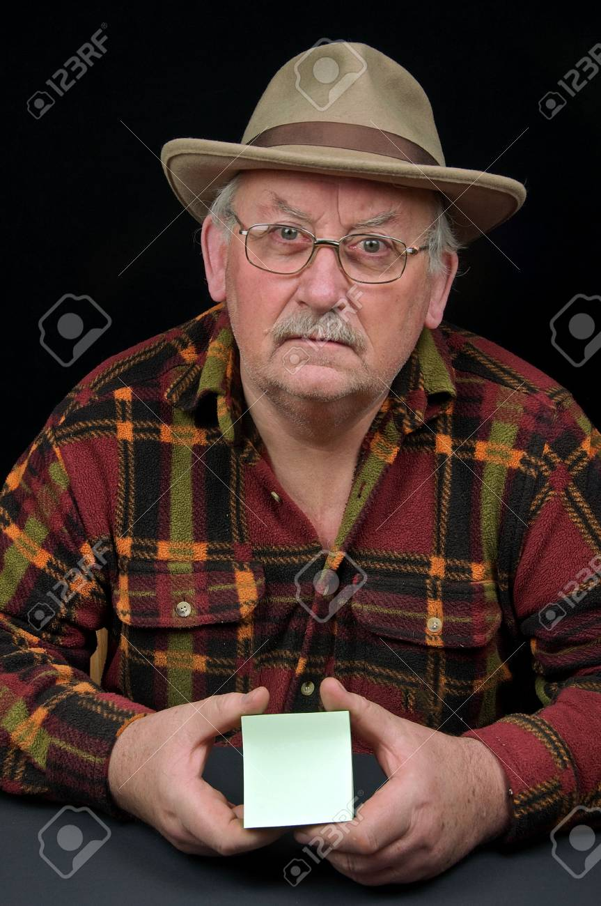 senior male close up with advert space for text Stock Photo - 6221976
