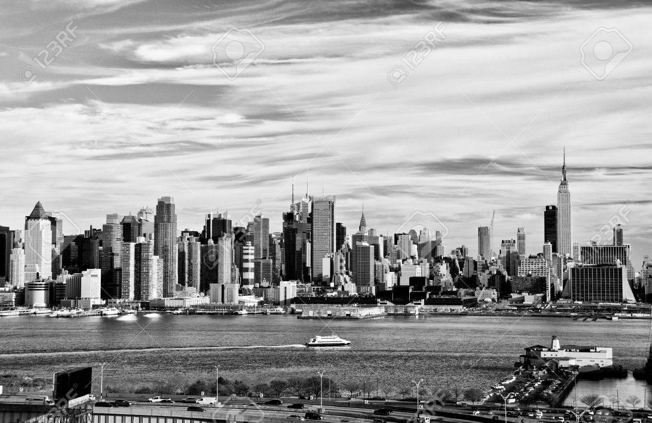 photo new york city black and white high contrast - 9129743