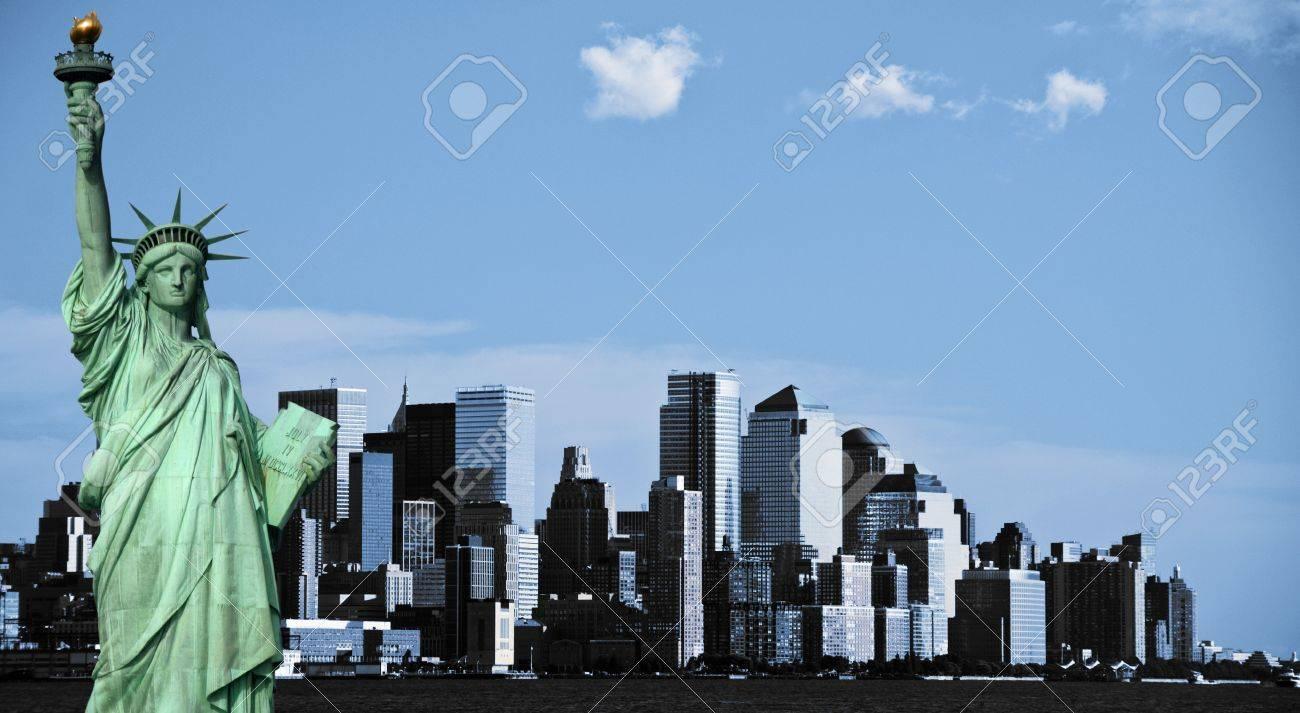 photo new york city skyline, downtown nyc, usa - 9294281