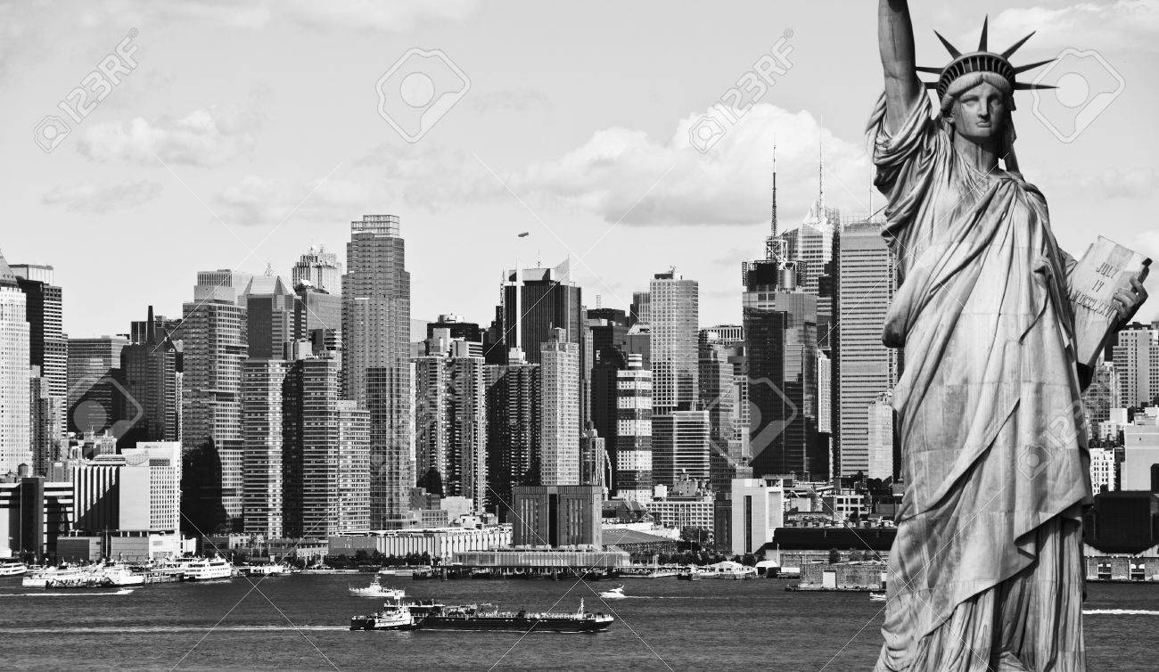 Photo new york city black and white hi contrast stock photo 14004204