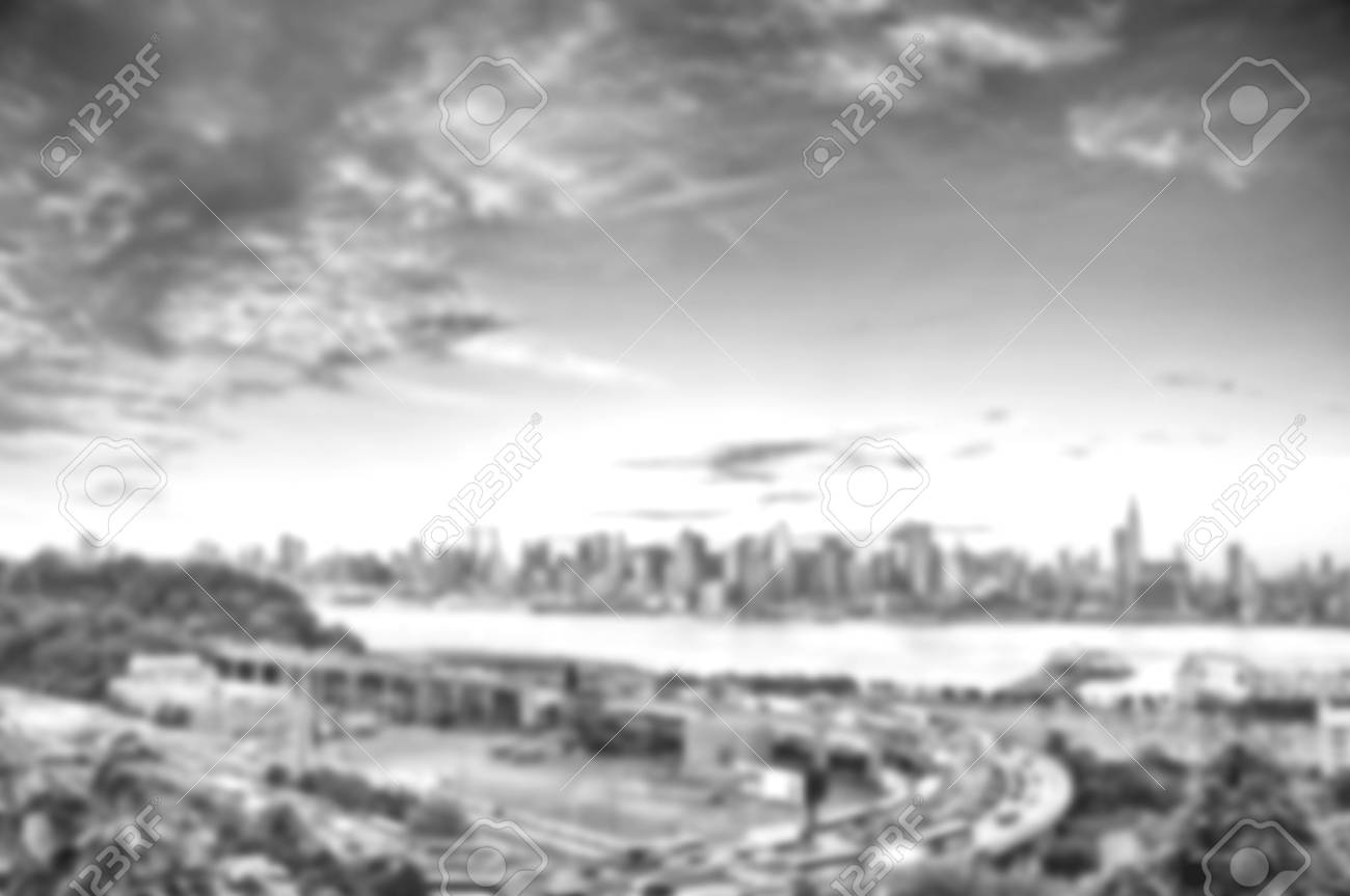 Black And White Blurred Effect Defocused Background Abstract
