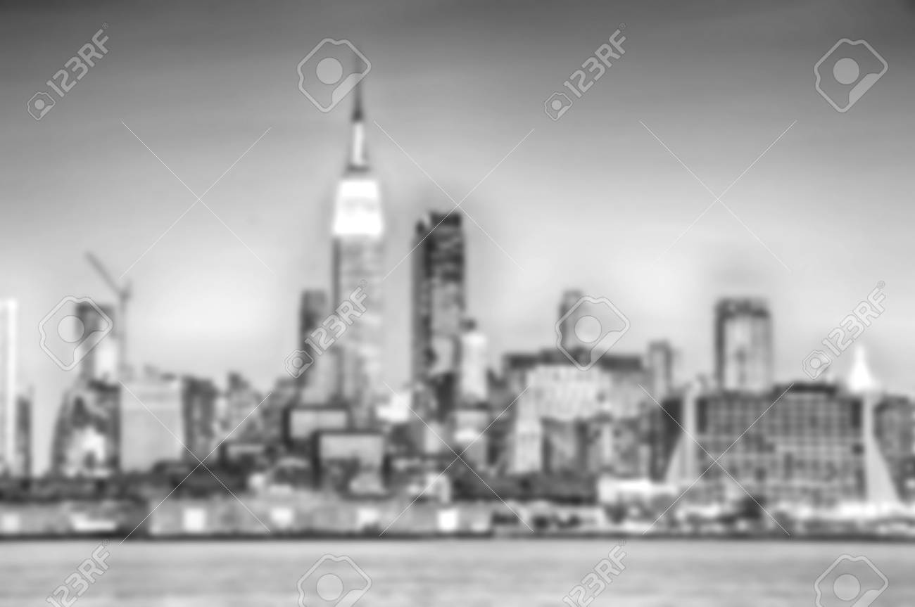 Banque dimages black and white blurred effect defocused background abstract background from nyc new york city