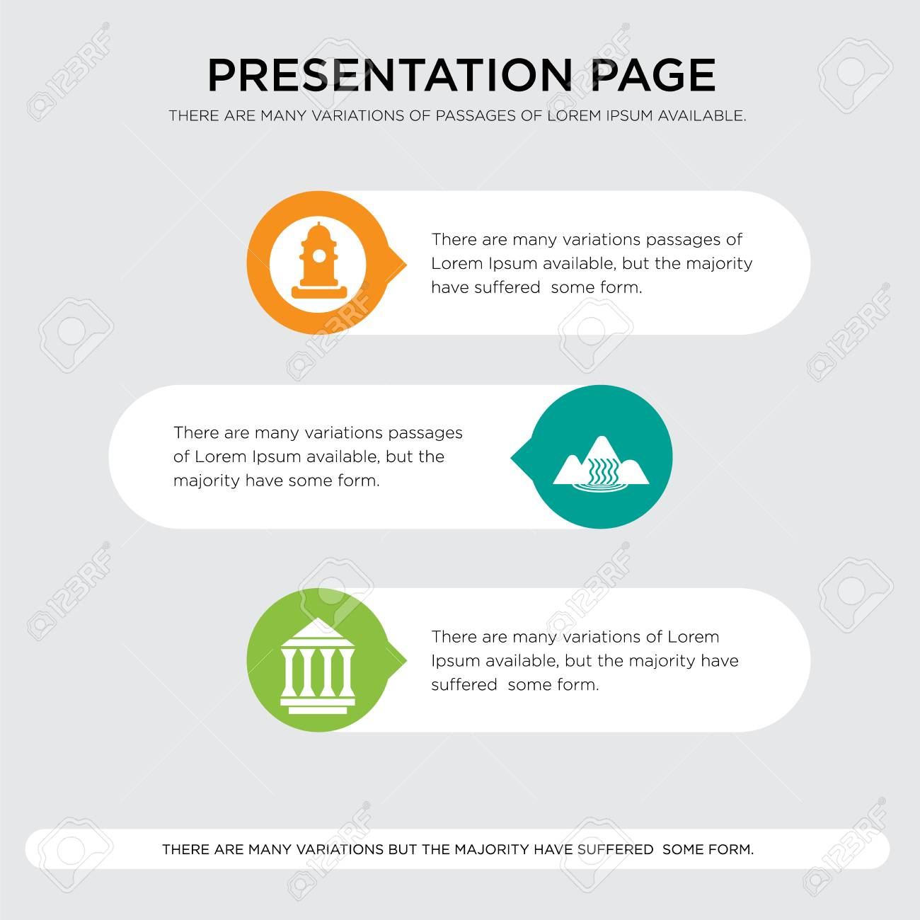 municipality waterfall fire hydrant presentation design template