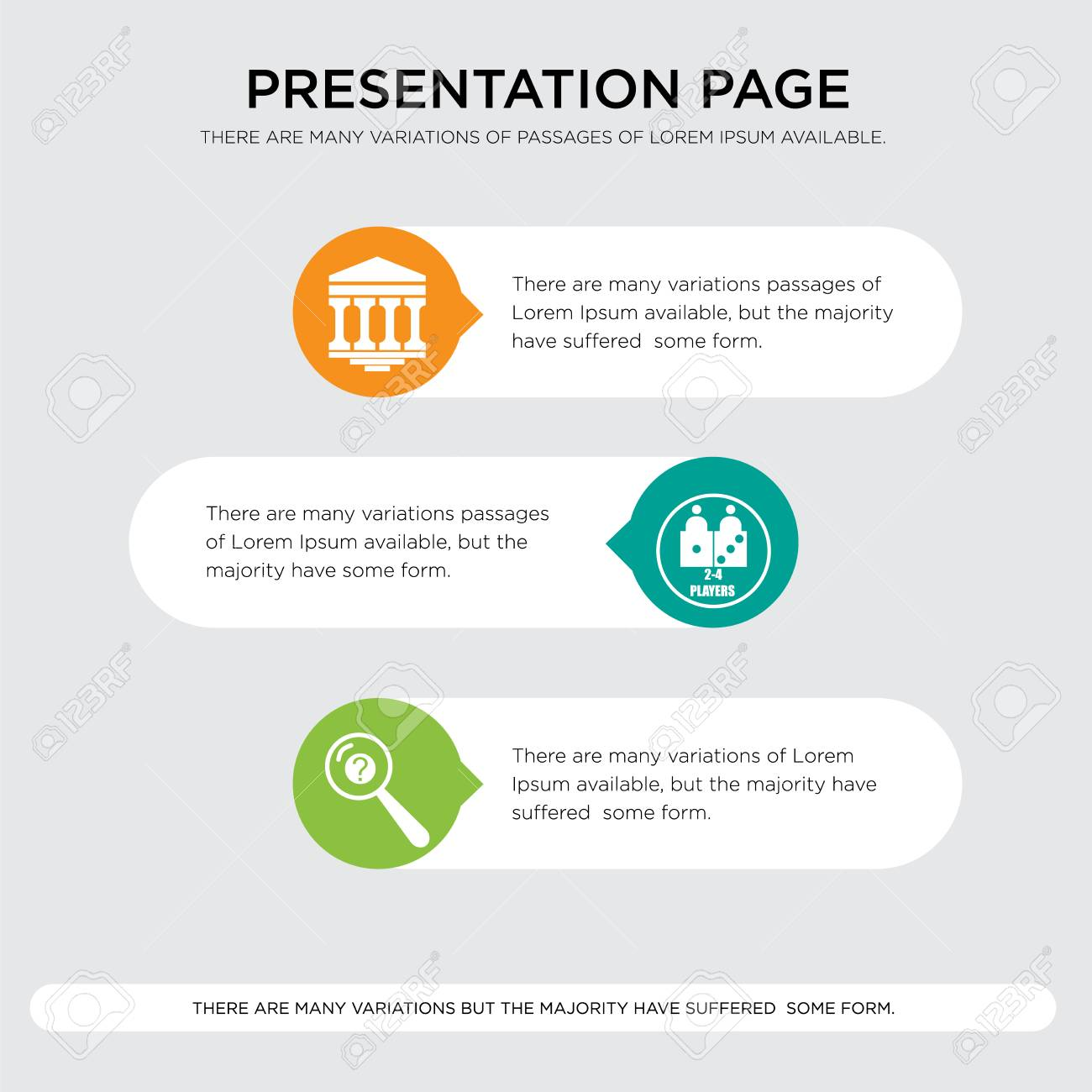 Design Bank Wit.Inquiry Number Of Players Bank Branch Presentation Design Template