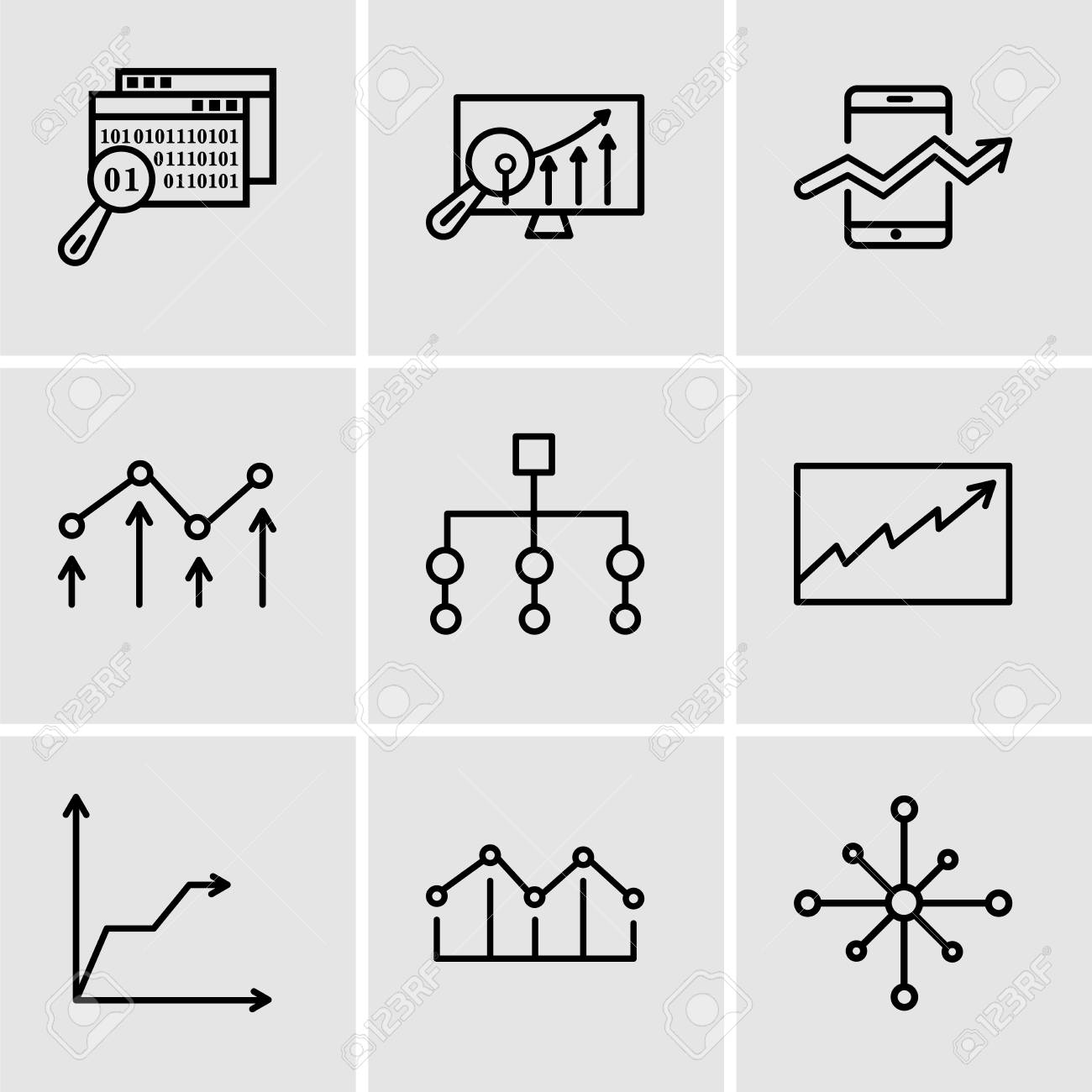 Set Of 9 Simple Editable Icons Such As Data Analytics Wheel