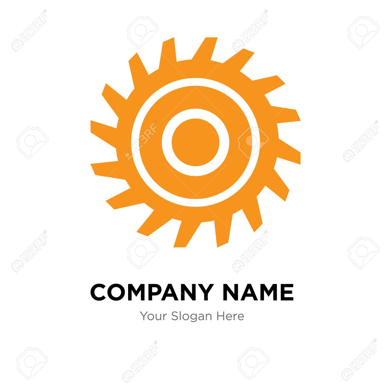 saw blade company logo design template business corporate vector