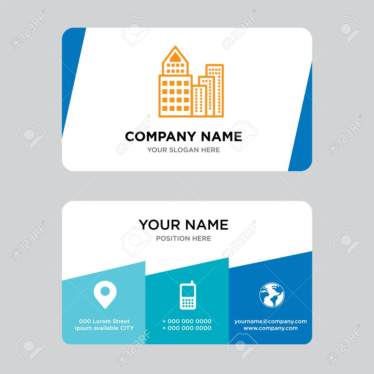 Building Business Card Design Template, Visiting For Your Company ...