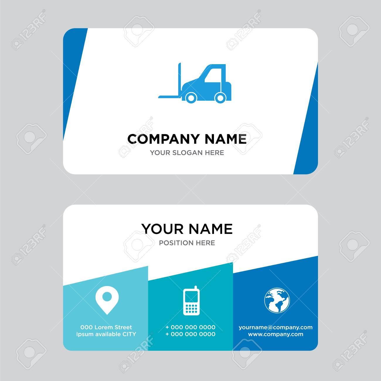 Logistics Transport Business Card Design Template Visiting For