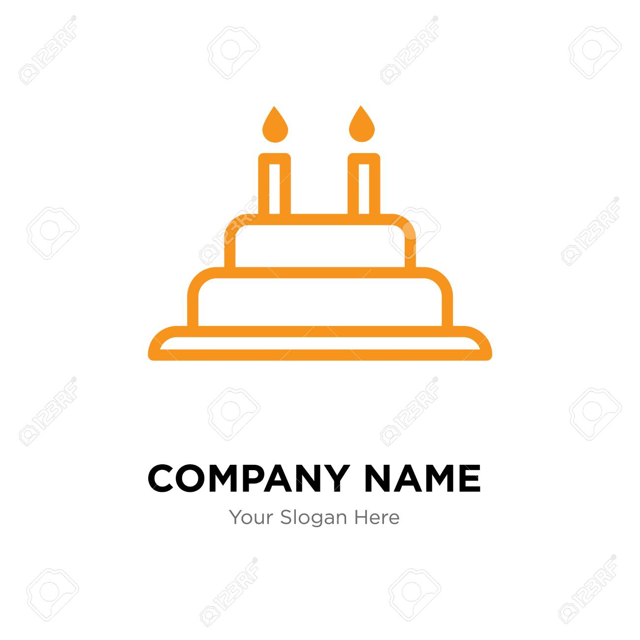 Cake With Candles Company Logo Design Template Business Corporate
