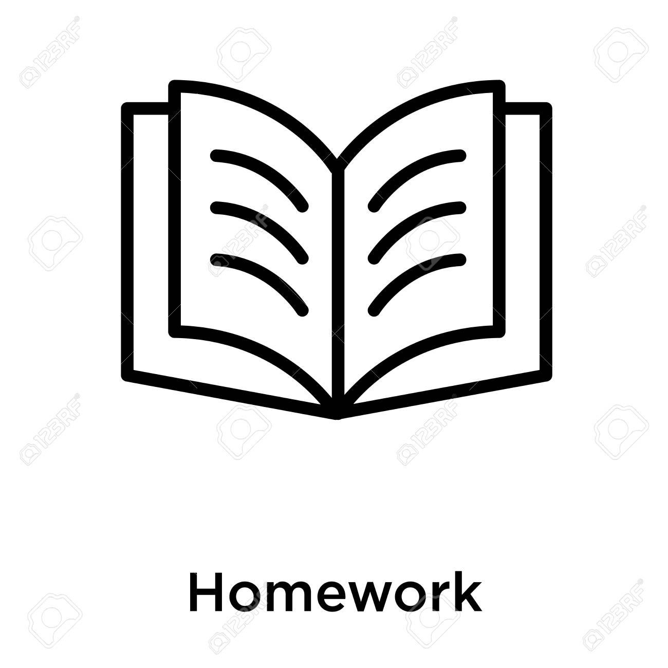 homework icon isolated on white background, vector illustration